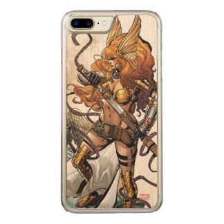 Angela Drawing Sword Carved iPhone 8 Plus/7 Plus Case