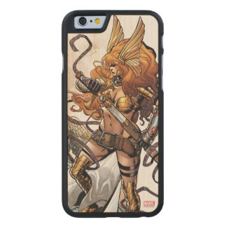 Angela Drawing Sword Carved Maple iPhone 6 Case