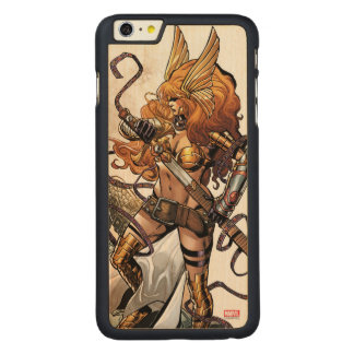 Angela Drawing Sword Carved Maple iPhone 6 Plus Case