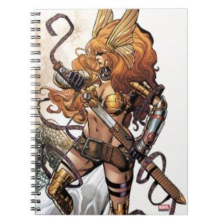 Angela Drawing Sword Notebook