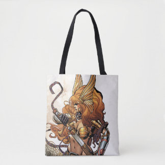 Angela Drawing Sword Tote Bag
