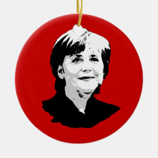Angela Merkel Ceramic Ornament
