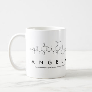 Angela peptide name mug