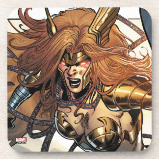 Angela Ready To Fight Beverage Coasters