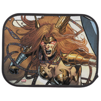 Angela Ready To Fight Car Mat