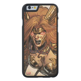 Angela Ready To Fight Carved Maple iPhone 6 Case