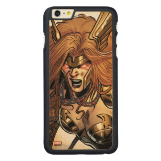Angela Ready To Fight Carved Maple iPhone 6 Plus Case