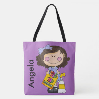 Angela's Crayon Personalized Tote