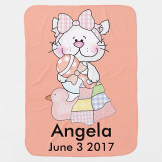 Angela's Personalized Kitty Baby Blanket