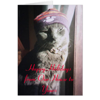 AngelChristmas, Happy Holidays from Our House t... Card