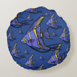 Angelfish #2 round pillow