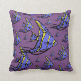 Angelfish #2 throw pillow