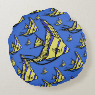 Angelfish #3 round pillow