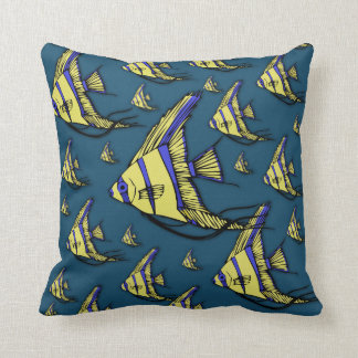 Angelfish #3 throw pillow