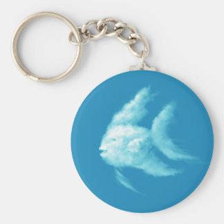 Angelfish Basic Round Button Keychain