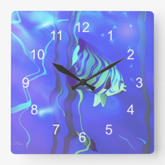 Angelfish Blues Clocks