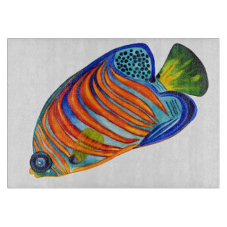 Angelfish design decorative chopping board