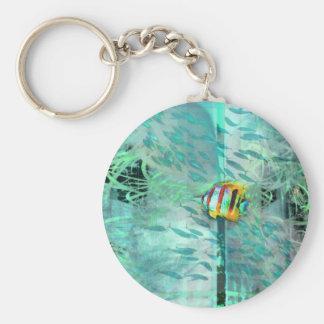 Angelfish 'fine art' collage keychain