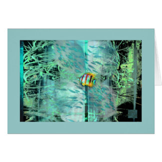 Angelfish fine art fish collage greeting card