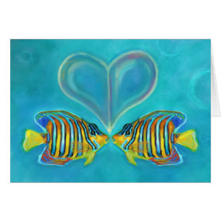 """Angelfish Love"" Greeting Card - Art by Charis D"