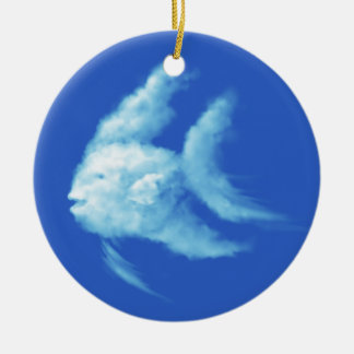 Angelfish Round Ceramic Ornament