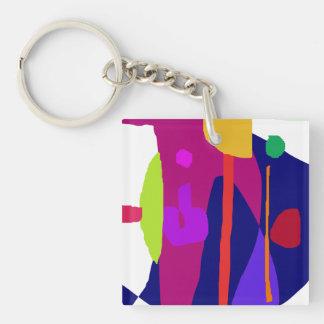 Angelfish Single-Sided Square Acrylic Keychain