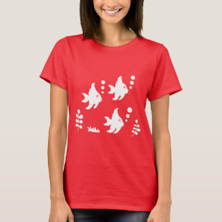 Angelfish T-Shirt, Fish with Bubbles, Beach Shirt