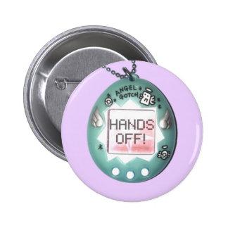 "Angelgotchi ""Hands Off!"" Pastel Button/pin 2 Inch Round Button"