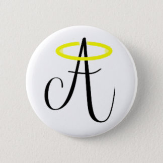 Angelic Abbie - Black Logo Button