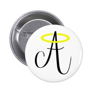 Angelic Abbie - Black Logo Button
