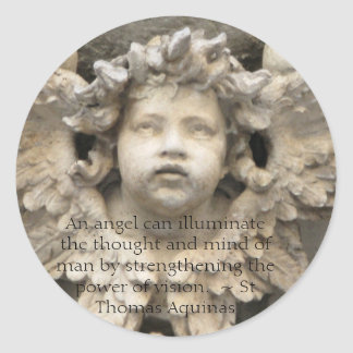 Angelic Angel Quotes -  Angel Quotation Classic Round Sticker