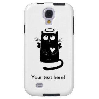 Angelic black cat cartoon