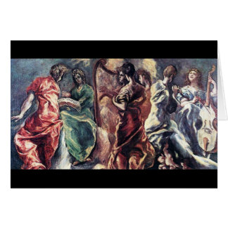 Angelic Concert by El Greco ( Theotokopoulos) Card
