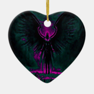 Angelic Guardian Purple and Teal Ceramic Ornament