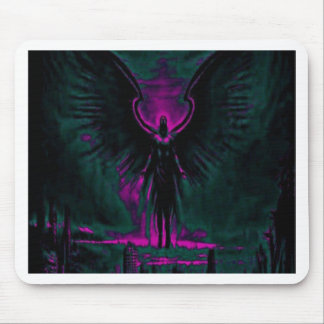 Angelic Guardian Purple and Teal Mouse Pad