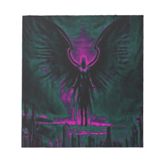 Angelic Guardian Purple and Teal Notepad