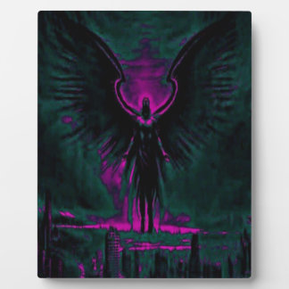 Angelic Guardian Purple and Teal Plaque