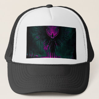 Angelic Guardian Purple and Teal Trucker Hat