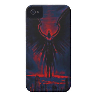 Angelic Guardian Red and Blue iPhone 4 Cover