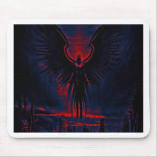 Angelic Guardian Red and Blue Mouse Pad