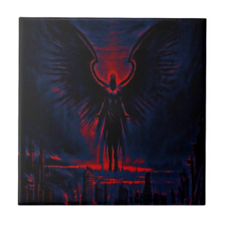 Angelic Guardian Red and Blue Tile
