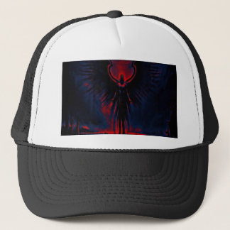 Angelic Guardian Red and Blue Trucker Hat