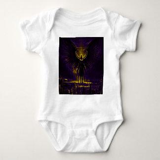 Angelic Guardian Yellow and Purple Baby Bodysuit