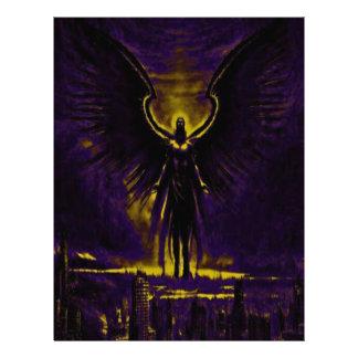 Angelic Guardian Yellow and Purple Letterhead