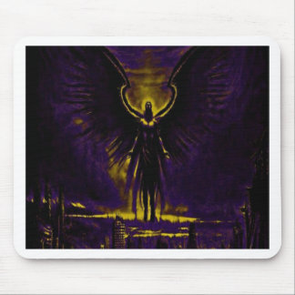Angelic Guardian Yellow and Purple Mouse Pad