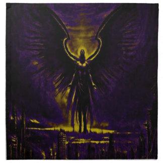 Angelic Guardian Yellow and Purple Napkin