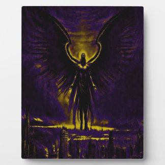 Angelic Guardian Yellow and Purple Plaque