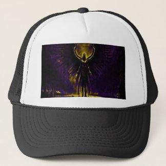 Angelic Guardian Yellow and Purple Trucker Hat