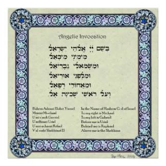 Angelic Invocation | Hebrew, English Poster