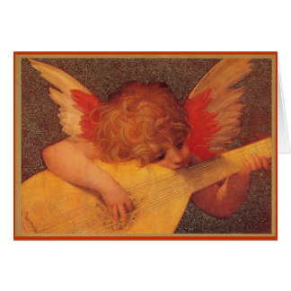 Angelic Musician - Christmas Card